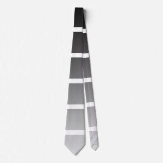 Modern Black & White Gradient Stripes Neck Tie