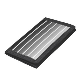 Modern Black & White Gradient Stripes Trifold Wallet