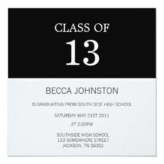 Modern Black & White Graduation Invitations
