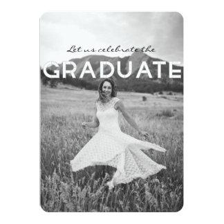 Modern Black & White Graduation Party Invite