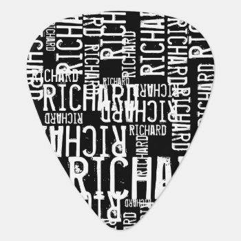 Modern Black/white Guitar Pick For A Guitar-player by mixedworld at Zazzle