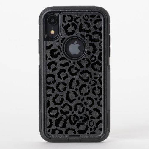 Modern Black White Leopard Animal Print Pattern Phone Case
