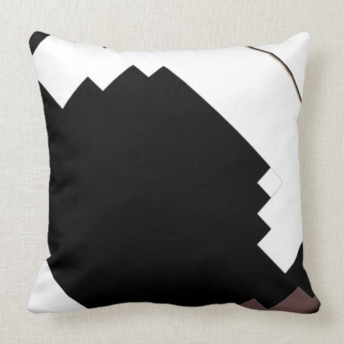 Modern Black & White Pillow