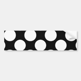 Modern Black White Polka Dots Pattern Bumper Sticker