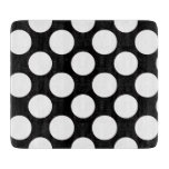 Modern Black White Polka Dots Pattern Cutting Board