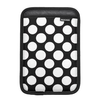 Modern Black White Polka Dots Pattern iPad Mini Sleeves