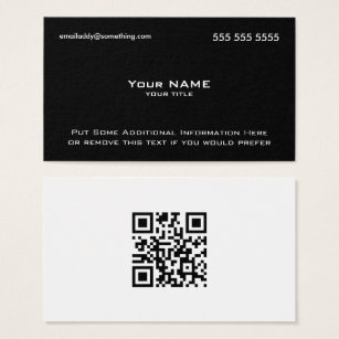 Scannable business cards templates zazzle modern black white qr code business card colourmoves