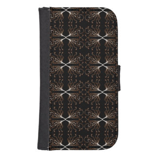Modern Black & White, Sepia Pattern Wallet Phone Case For Samsung Galaxy S4