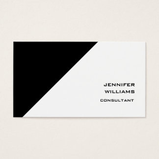 Modern Black White Sophisticated Trendy Style Business Card