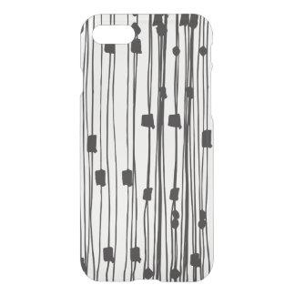Modern black white stripes dots squares pattern iPhone 7 case