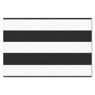 "Modern Black White Stripes Pattern 10"" X 15"" Tissue Paper"