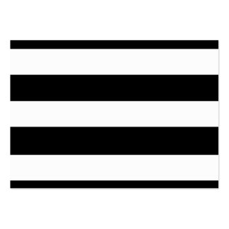 Modern Black White Stripes Pattern Large Business Cards (Pack Of 100)