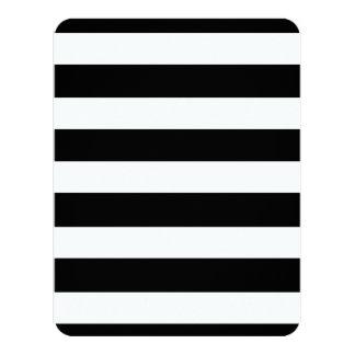 Modern Black White Stripes Pattern Card
