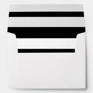 Modern Black White Stripes Pattern Envelopes