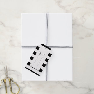 Modern Black White Stripes Pattern Pack Of Gift Tags