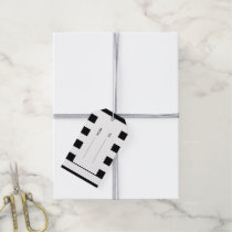 Modern Black White Stripes Pattern Gift Tags