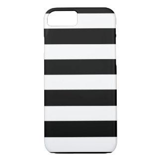 Modern Black White Stripes Pattern iPhone 7 Case