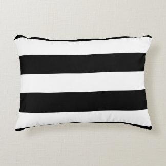 Modern Black White Stripes Pattern Accent Pillow