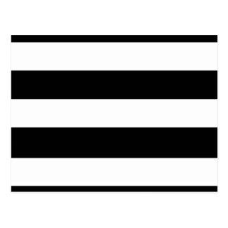Modern Black White Stripes Pattern Post Cards