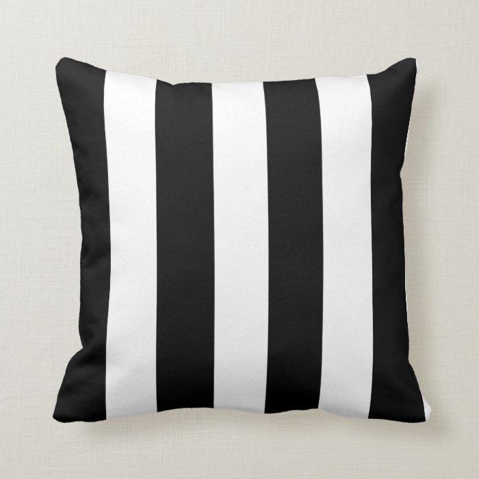 Modern Black White Stripes Pattern Throw Pillow Zazzle
