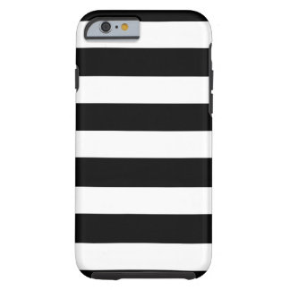 Modern Black White Stripes Pattern Tough iPhone 6 Case