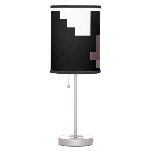Modern Black & White Table Lamp