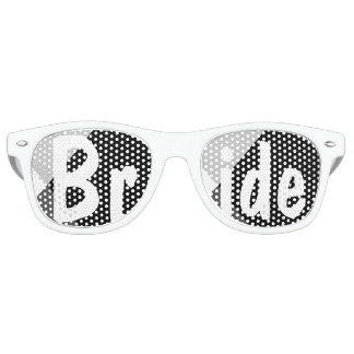 Modern black white triangles wedding Bride Wayfarer Sunglasses