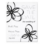 Modern Black & White Wedding Save The Date 4.25x5.5 Paper Invitation Card