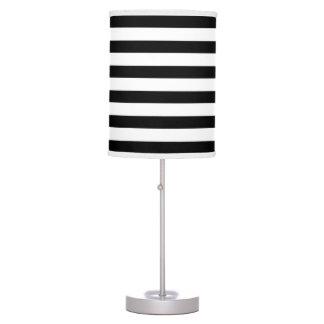modern black white wide stripes table lamp. Black Bedroom Furniture Sets. Home Design Ideas