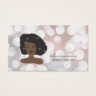 Modern Black Women Beauty Salon Business Card