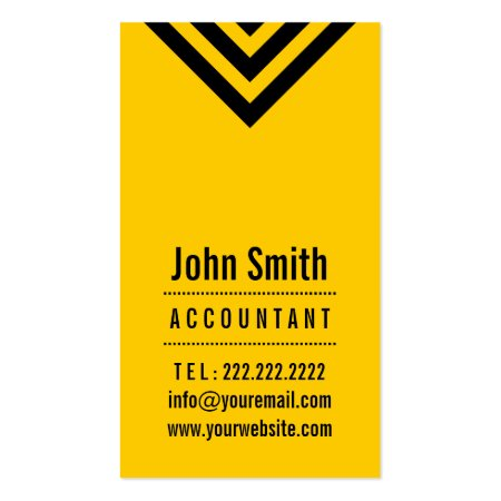Modern Bright Black and Yellow Accountant Business Cards