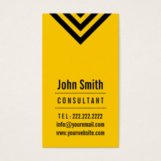 Modern Black & Yellow Consultant Business Card