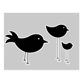 Modern Blackbirds Design Postcard