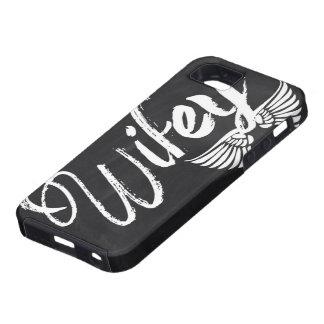 modern blackboard scripts honeymoon wifey iPhone SE/5/5s case