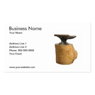 Modern Blacksmith Anvil Business Card Template