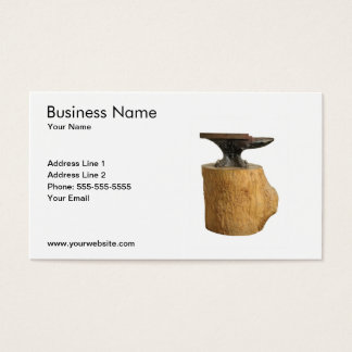 Modern Blacksmith Anvil Business Card Template
