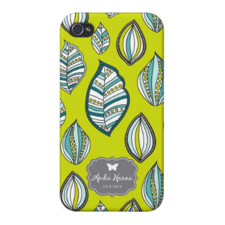 Modern Bliss leaves print iphone 4 case