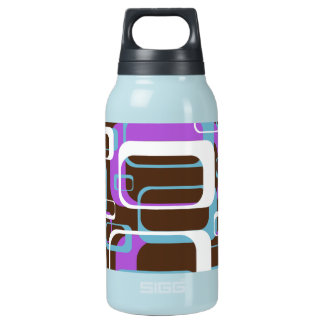 Modern Block Pattern With Brown and Purple Insulated Water Bottle
