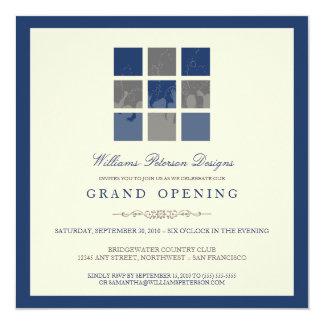 Modern Blocks Grand Opening Invitation (blue)
