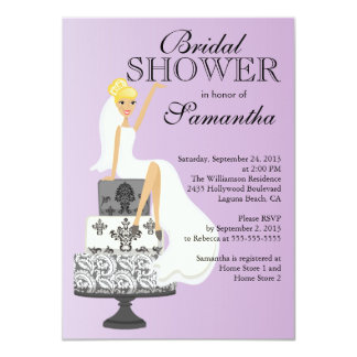 Modern Blonde  Bride Bridal Shower Invitation