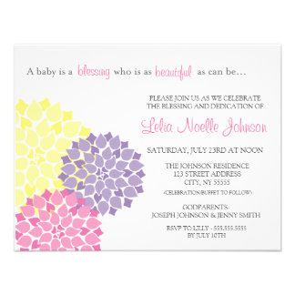 Modern Bloom Baby Dedication Blessing Invitation