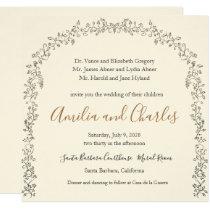 Modern Blooming Flowers Wedding invitation
