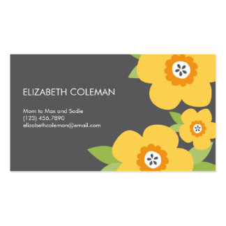 Modern Blooms Mommy Card / Calling Card