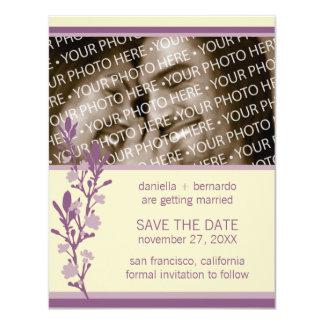 Modern Blossom Save The Date 4.25 x 5.5 Invitation