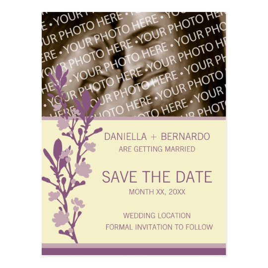 Modern Blossom Save The Date Postcard