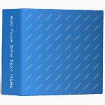 Modern Blue Abstract. Thin Ovals Pattern. Vinyl Binders