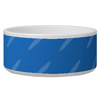 Modern Blue Abstract. Thin Ovals Pattern. Bowl