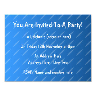 Modern Blue Abstract. Thin Ovals Pattern. Card