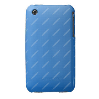 Modern Blue Abstract. Thin Ovals Pattern. Case-Mate iPhone 3 Cases