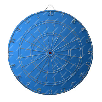 Modern Blue Abstract. Thin Ovals Pattern. Dart Board